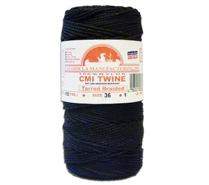 #36 Tarred Braided Bank Line from Catahoula Manufacturing is our most popular size. Available here in 1 lb spools.