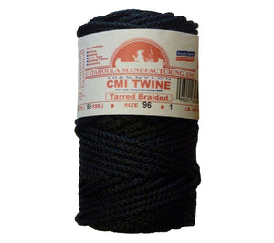 #96 bank line (tarred, braided) is the strongest netcoat treated AA seine twine available.  Manufactured in Louisiana by Catahoula Manufacturing.