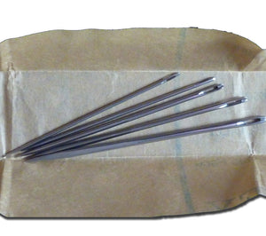 Wm. Smith & Son steel Sailmaker's Needles have a triangular profile to help when sewing heavy material like canvas and nylon.
