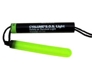 Cyalume's SOS Signal Light Stick, a visual chemlight distress beacon.