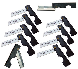 Ten Derma-Safe Razors with Black plastic handles.