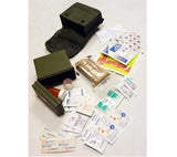 Each first aid kit includes USGI OD pouch and plastic insert box for safely storing IFAK contents.