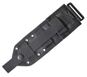 The MOLLE Back Panel for ESEE's Model 3 and Model 4 Knives allows users to attach the sheath to PALS grids.