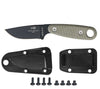 The Izula II Knife from ESEE Knives includes sheath, belt clip plate, and hardware.