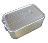 All of ESEE's Mess Tin Kit contents fit in side ESEE's mess tin with lid and folding handle.