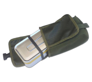 ESEE's Mess Tin Survival Kit stores neatly with the NDUR Emergency Blanket inside the MOLLE Pouch.