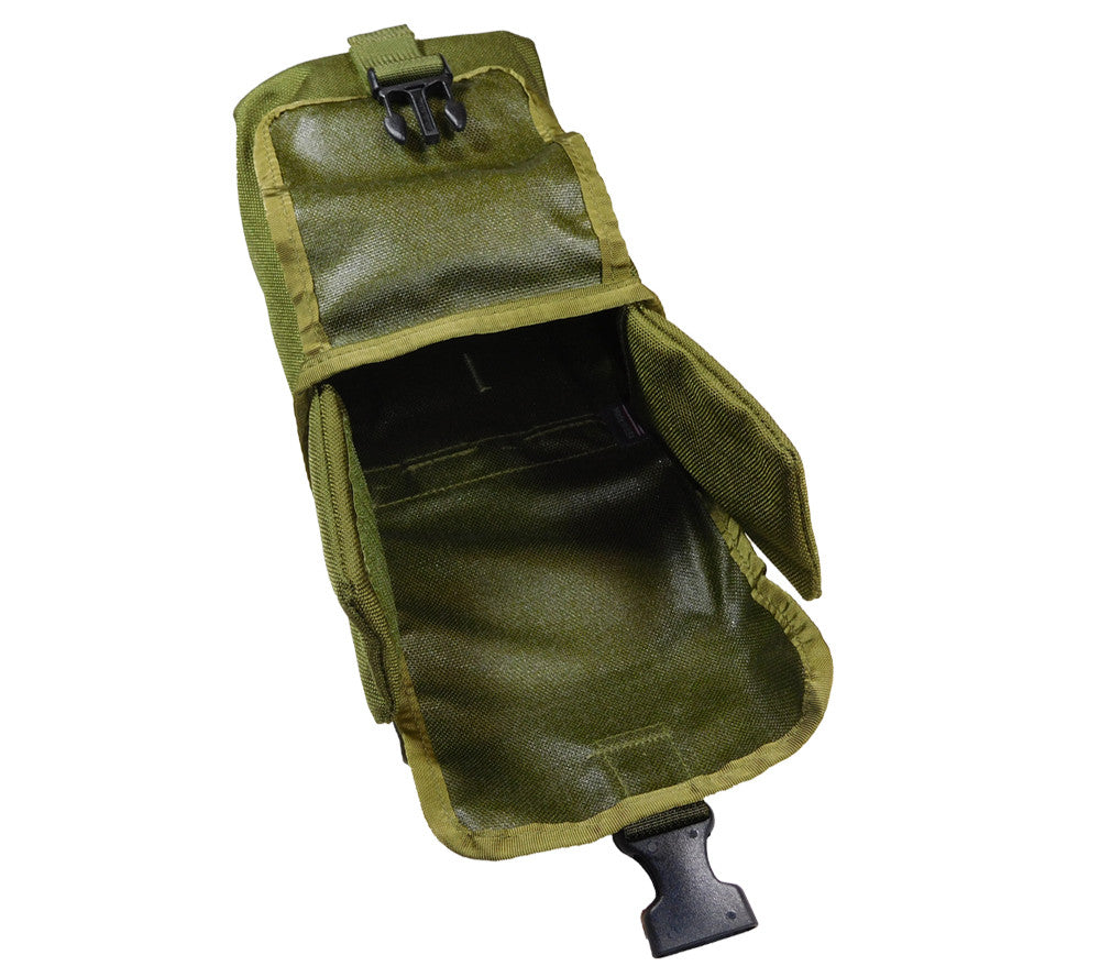 The empty MOLLE Pouch that holds the Large Tin Survival Kit