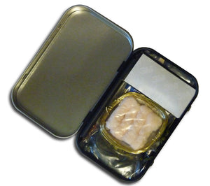 All the kit contents neatly fit an Altoids-sized tin in this Mini Survival Kit.