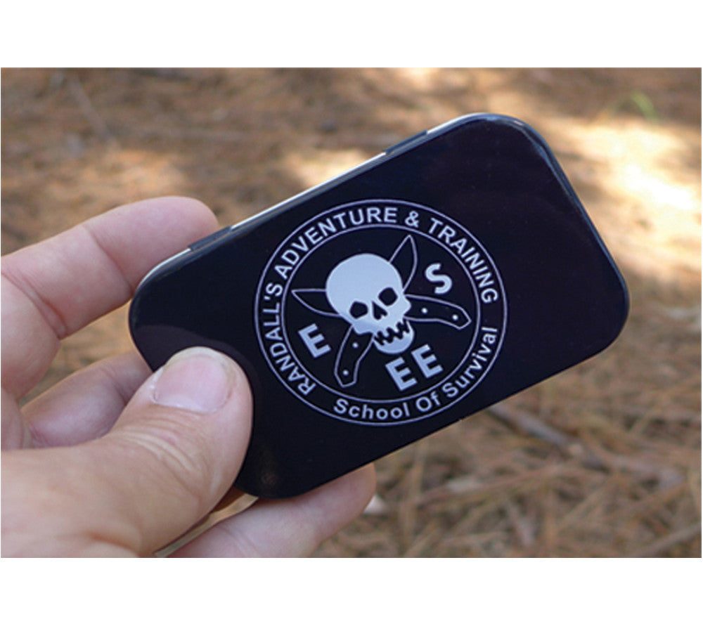 This pocket-sized mini-survival kit fits in the palm of your hand.