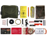 The Pocket Survival Kit from ESEE Knives contains 20 pieces of emergency gear.