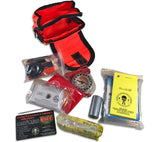 ESEE's Pocket Survival Kit weighs less than a pound and is available in orange or olive drab.