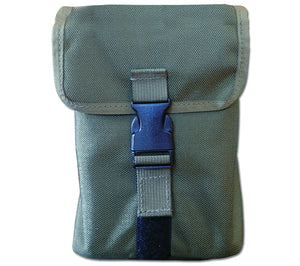 Olive Drab Kit Tin Pouch from ESEE Knives.  MOLLE straps for use with PALS Grids and modular gear.