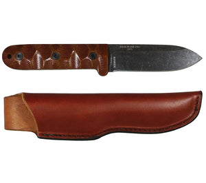 Patrick Rollins' PR-4 Knife with Leather Sheath, from ESEE Knives.