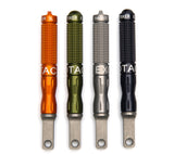 Exotac's nanoSTRIKER XL is available in orange, olive drab green, gunmetal gray, or black.