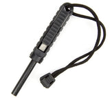 Exotac polySTRIKER XL ferro rod fire starter with tungsten carbide striker in Black.