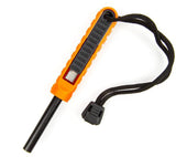 Orange/Black polySTRIKER XL fire starter from Exotac.