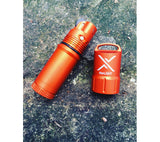 The titanLIGHT waterproof lighter from Exotac has a screw-on quickTHREAD cap.