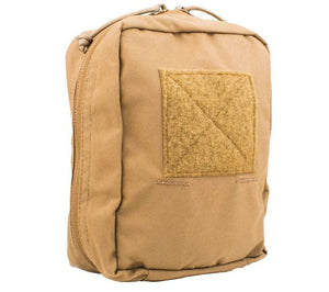 The PALS compatible First Spear SOF Med Pouch, shown here in Coyote Brown Cordura.