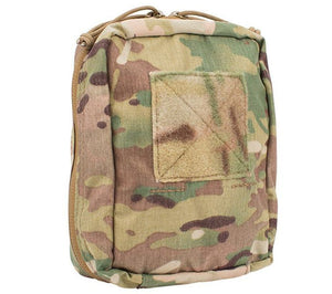 First Spear's SOF Medical Pouch, Multicam is an American made nylon MOLLE-compatible pouch ideal for first aid kits and survival kit modules.