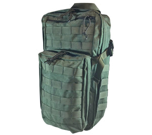 The Olive Drab version 1 Survival Backpack from 5col Survival Supply is designed for use as a vehicle Go-Bag.
