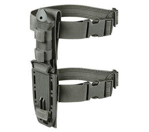 The included sheath system can be worn on the leg, attached to a belt, or attached to MOLLE gear using the included MOLLE Back panel and MALICE clip.