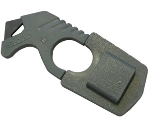 The LMF II ASEK strap cutter has its own sheath that can be detached from the main system and carried separately as needed.