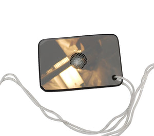 MIL-M-18371E Mark 3 Type 1 Signal Mirrors include a nylon lanyard cord for easy carry.