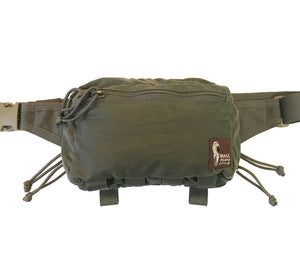 Hill People Gear's Belt Pack, available here in Olive Waxed Canvas.