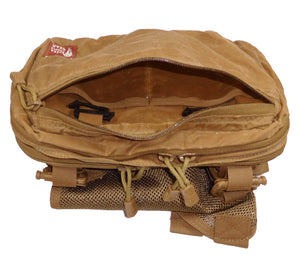 HPG V1 Kit Bags allow you to carry your IFAK, PSK, or pistol. Waxed canvas protects your gear from bad weather.