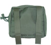 Back side of General Purpose Pocket, Medium, showing MOLLE straps.