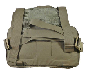 The Heavy Recon Kit Bag has a padded chest panel and mesh back panel.