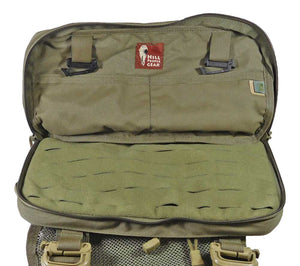 Inside the secondary compartment on the HPG Heavy Recon Kit Bag