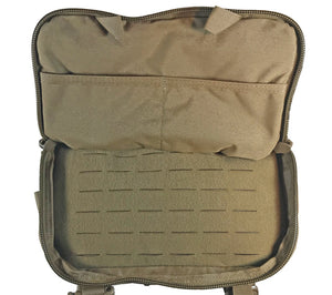 Secondary compartment on Hill People Gear's Coyote Brown Version 3 Kit Bag.