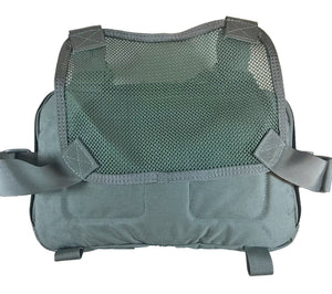 Back side of the V3 Kit Bag from HPG, showing the mesh back panel and harness system.