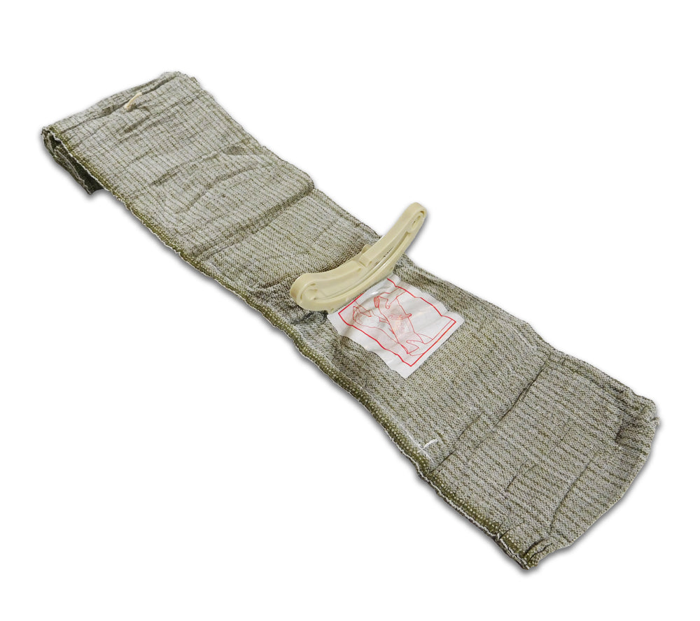 The Israeli Bandage trauma dressing features a patented pressure bar.