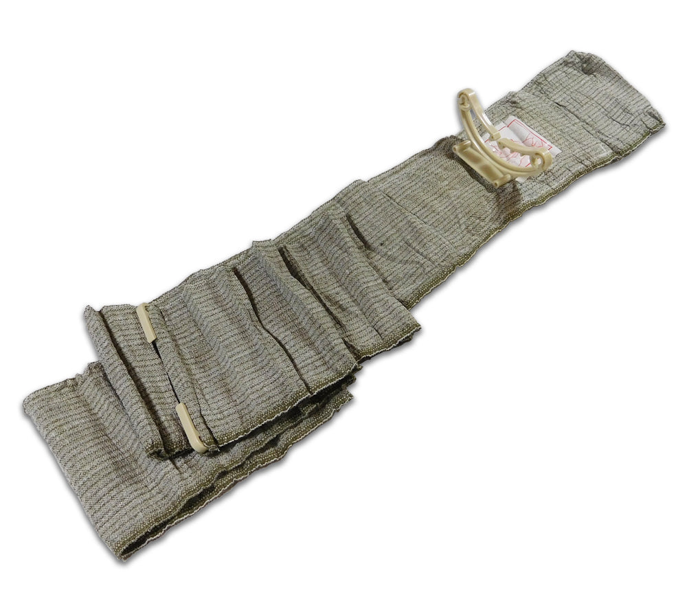 In addition to the sterile dressing, the Israeli bandage features several feet of bandage material.