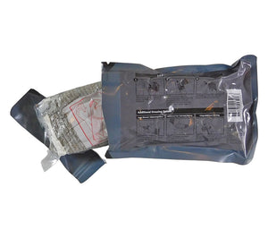 Many paramedics carry the T3 Israeli bandage with the outer packaging open for easier access.