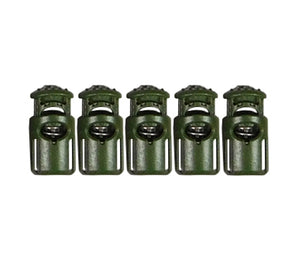 Camo Green GTSP Ghillietex Cordlocs from ITW Nexus, shown here in a 5-pack.