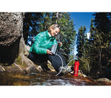 The pump system makes the Katadyn Hiker filter easy for use.