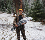 Using a 12 in. by 48 in. aLOKSAK Bag to protect a hunting rifle in snowy, wet conditions.
