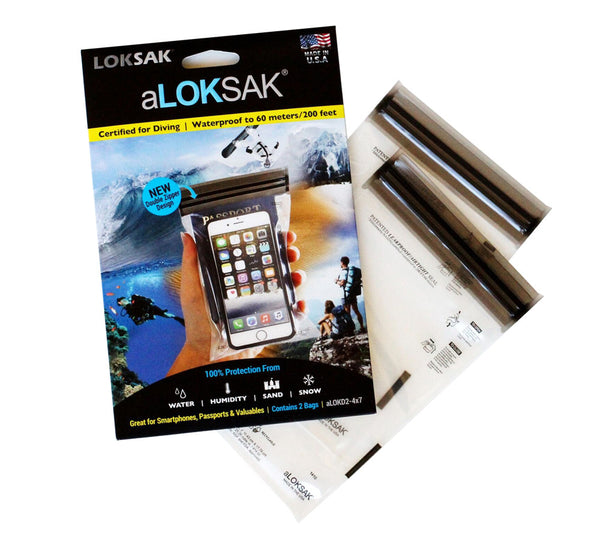 2-pack of 4 in. by 7 in. aLOKSAK Bags