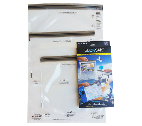 aLOKSAK Waterproof Bags (3-pack, Assorted Sizes)