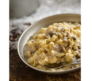 Beef Stroganoff with Noodles: easy preparation in under 10 minutes--simply add hot water!