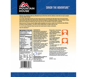 Nutritional info for Biscuits and Gravy from Mountain House.