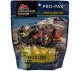 Mountain House Pro-Pak Scrambled Eggs with Bacon freeze dried breakfast.