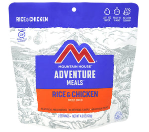 Mountain House Rice and Chicken Freeze Dried Meal.