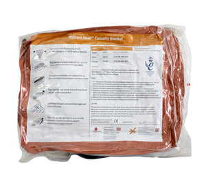 The Blizzard Heat Casualty Blanket (BH-03) in High Visibility Orange.