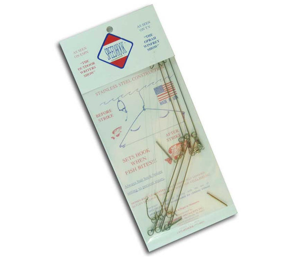 The 3-pack of Speedhooks is ideal for survival fishing and snare construction.