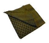 A Red Rock Outdoor Gear Olive Drab/Black shemagh, 42 in. x 42 in., 100% cotton.