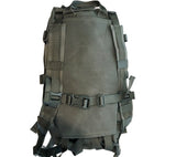 The SKRAM Go Bag has stowable shoulder straps and sternum strap that allow the bag to be carried like a backpack.